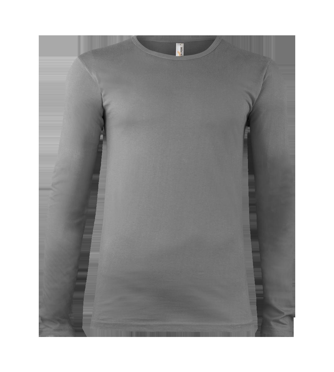102 Tričko pánské Long Steel Gray Alexfox a51523ecae