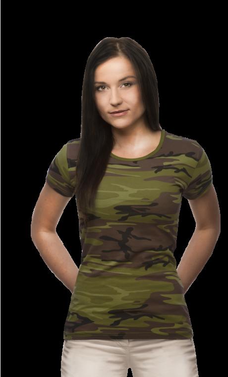 930767d9bece 119 Tričko dámské Military Camouflage Alexfox